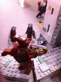 Theoden and Uruk-Hai in the Battle of Helm's Deep LEGO Set
