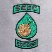 Seed Bomber Military Patch Style Embroidery Design