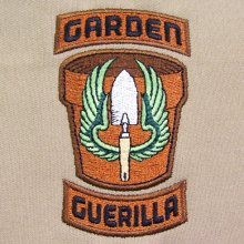 Garden Guerilla Patch Embroidery Design