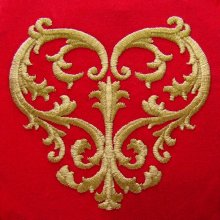 Acanthus Heart Embroidery Design