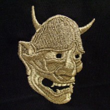 Carved Hannya Mask Embroidery Design