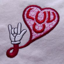 Luv U Hand Embroidery Design