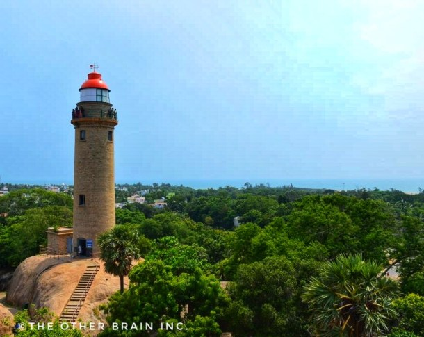 New Lighthouse as seen from top of Old Lighthouse! - Interesting facts about Mahabalipuram