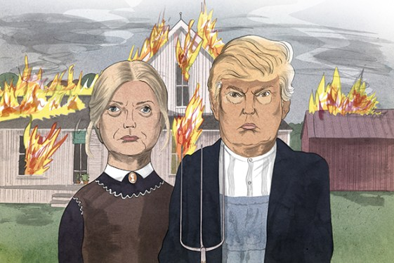 Brilliant Parody Of American Gothic by The Spectator