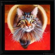 Haruni – A Maine Coon Cat Painting
