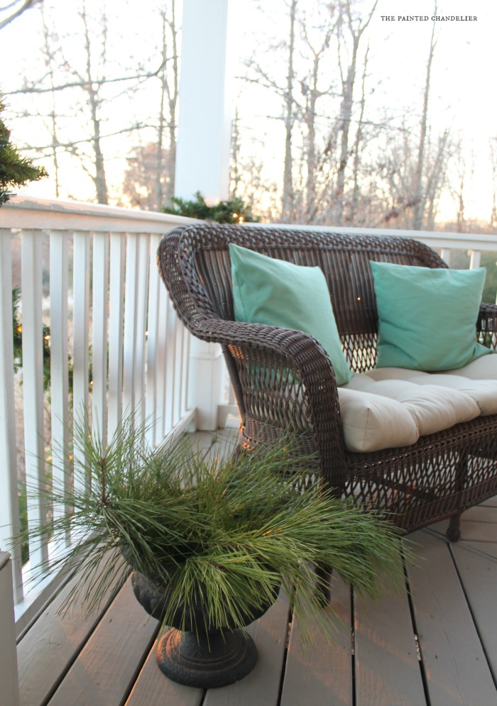 closeup-pine-christmas-porch-loveseat