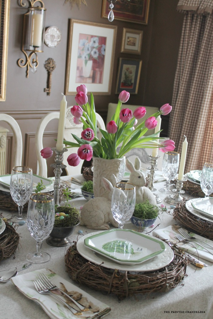 easter-table-and-tan-and-white-checked-ballards-curtains