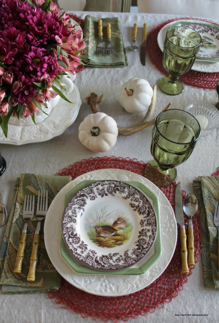Fuchsia and coral inspired thanksgiving table setting for Table coral sample