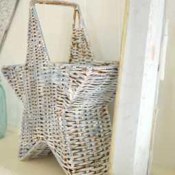 Thrift Store Basket Goes Coastal