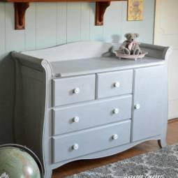 Changing Table in Paris Grey, Before and After