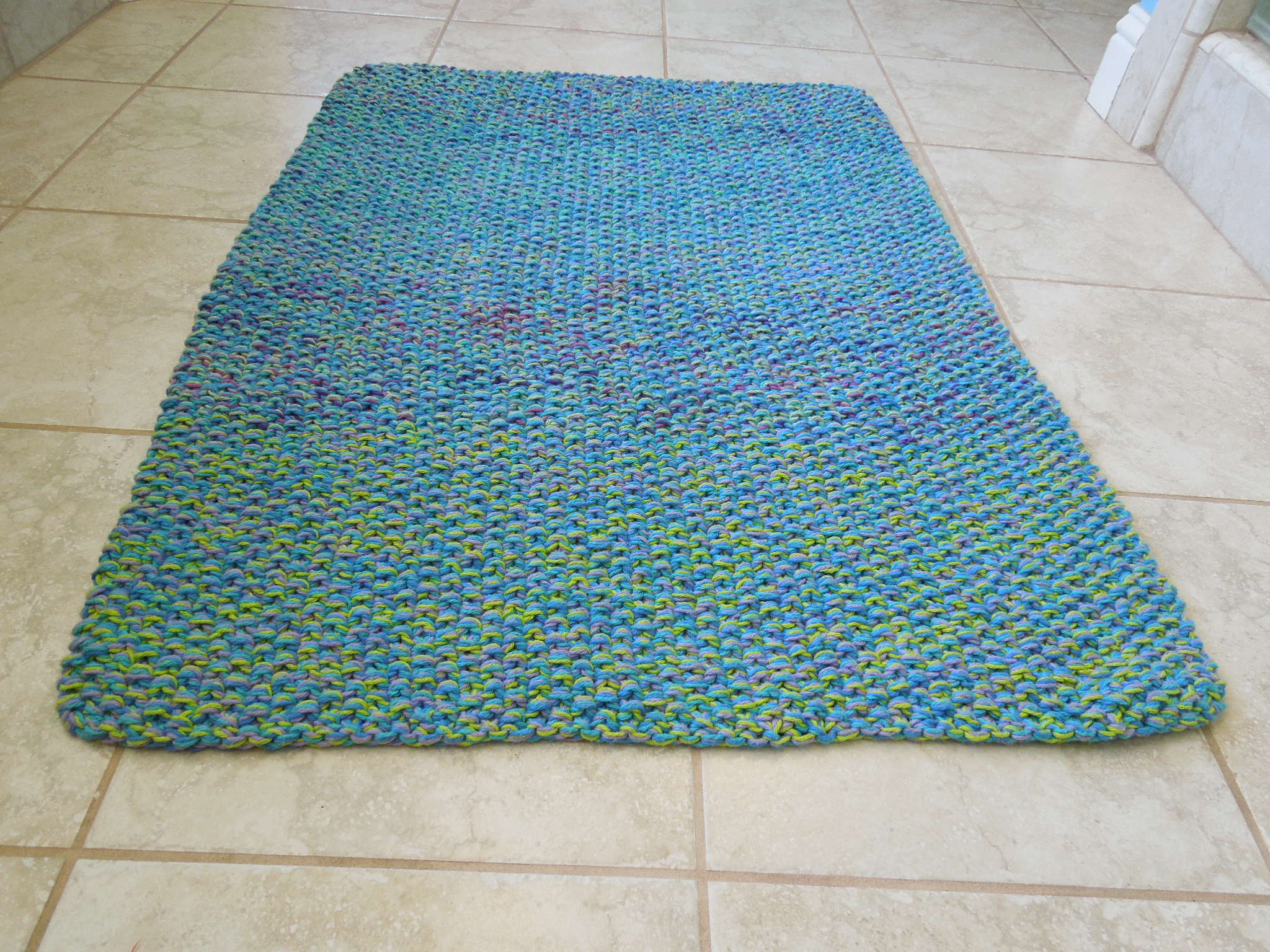 Cotton Bath Mat Free Knitting Pattern