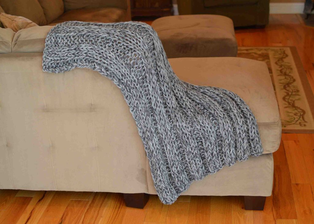 Bulky Yarn Afghan Free Knitting Pattern