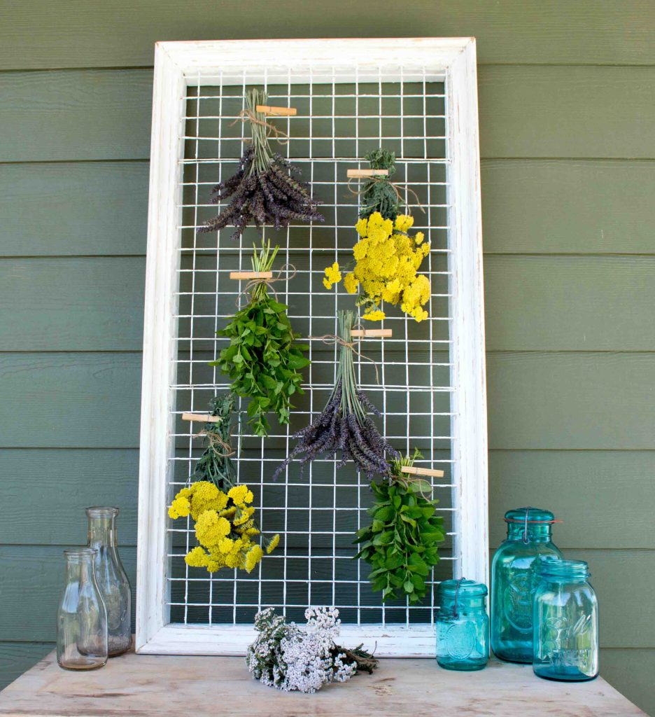 Picture Frame Herb & Flower Drying Rack