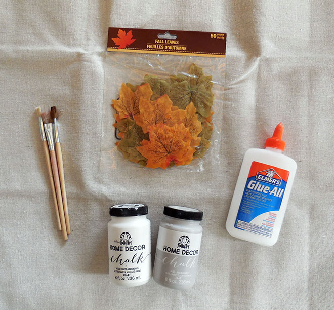 Crackle Paint Dollar Store Leaves Tutorial-4