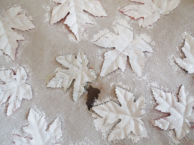 Crackle Paint Dollar Store Leaves Tutorial