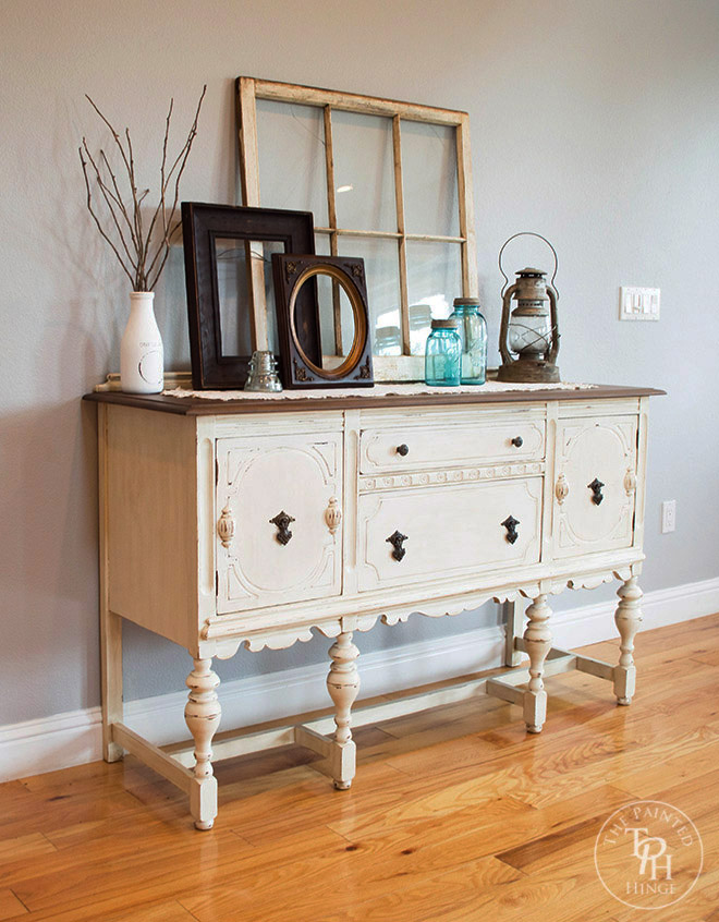 Sideboard Hutch Buffet Makeover