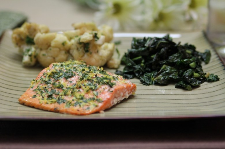 Paleo Grilled Salmon Fillets with a Lemon, Tarragon, and Garlic Sauce