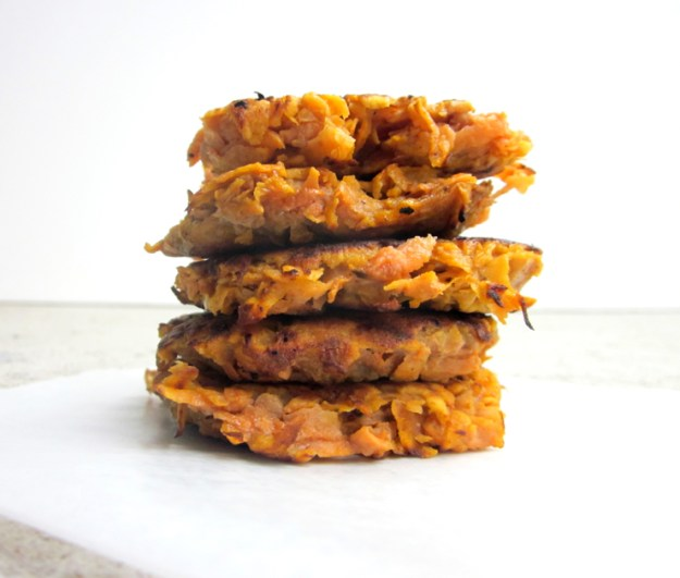 2-ingredient Sweet Potato Fritters