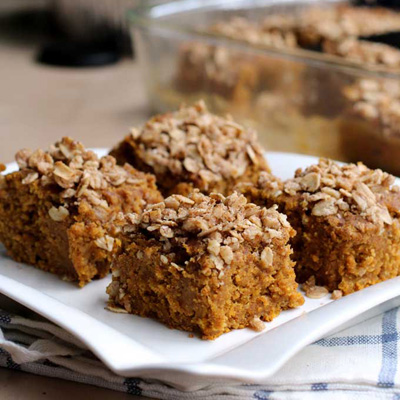 pumpkin banana breakfast cake
