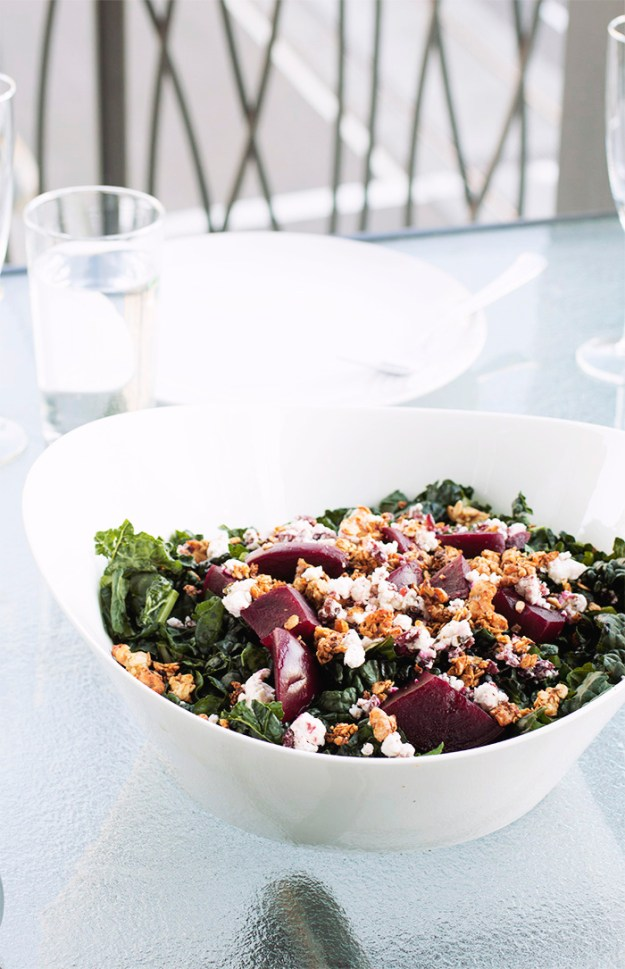 Baby beet salad with chevre and walnut granola // The Pancake Princess