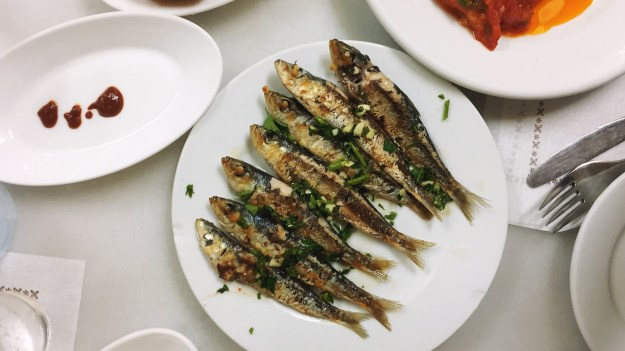 Sardines from La Cova Fumada.