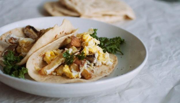 Potato and Egg Breakfast Tacos // The Pancake Princess