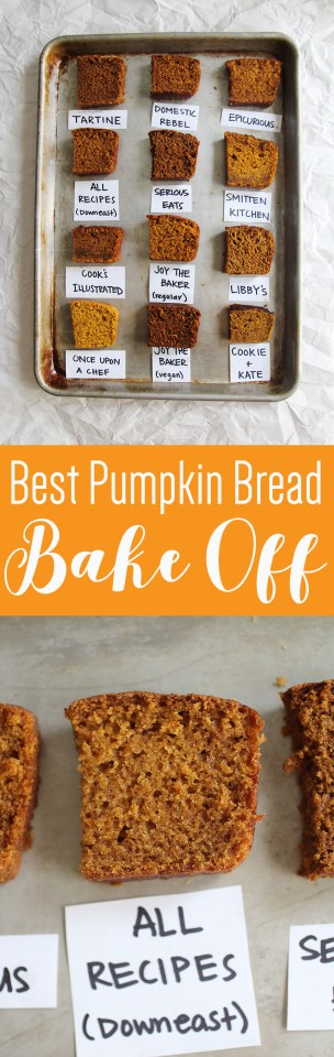 We baked 12 different pumpkin breads to find the best on the web!