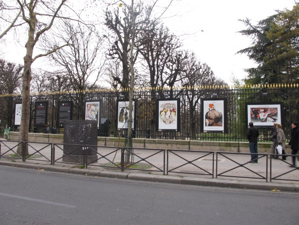 exposition dessins grilles jardin Luxembourg