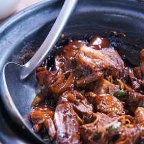 slowcooker Barbeque beef