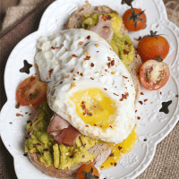 Egg and Maple Ham Avocado Toast