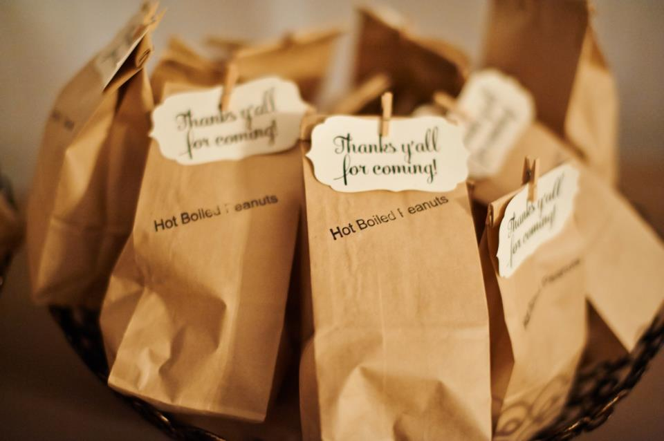 Boiled Peanuts Wedding Favor