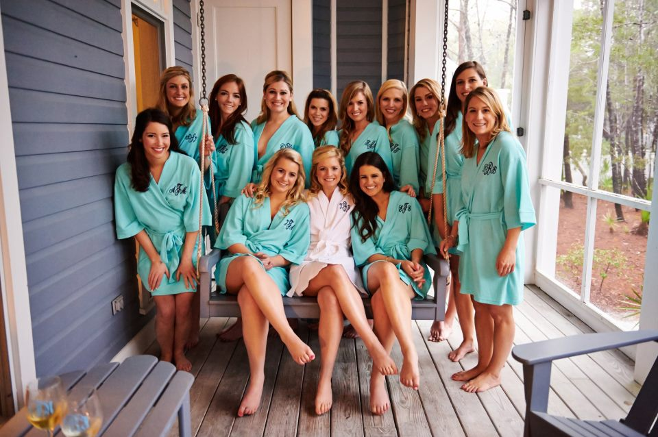 Preppy Bridesmaids Monogram Robes