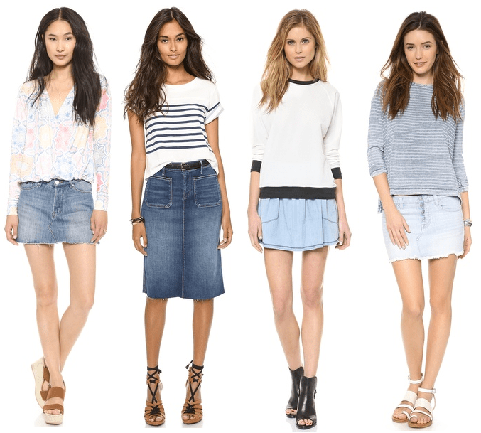 DENIM SKIRT TREND 2014