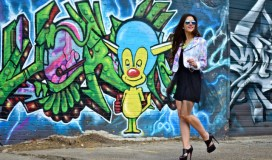 deep ellum dallas texas fashion blogger milk and honey boutique graffiti