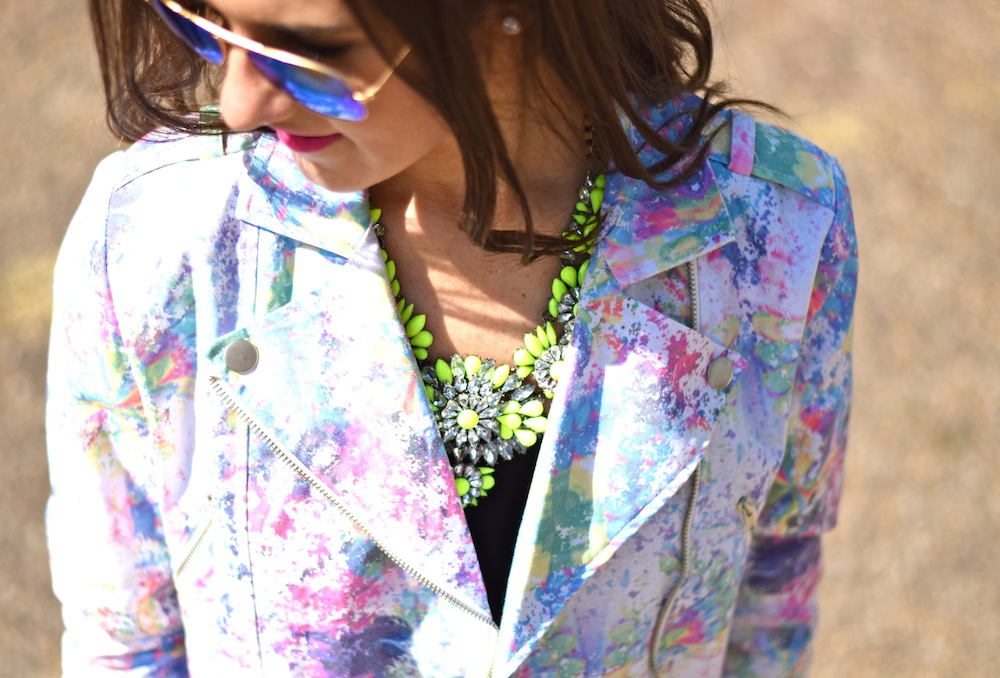 neon bauble necklace