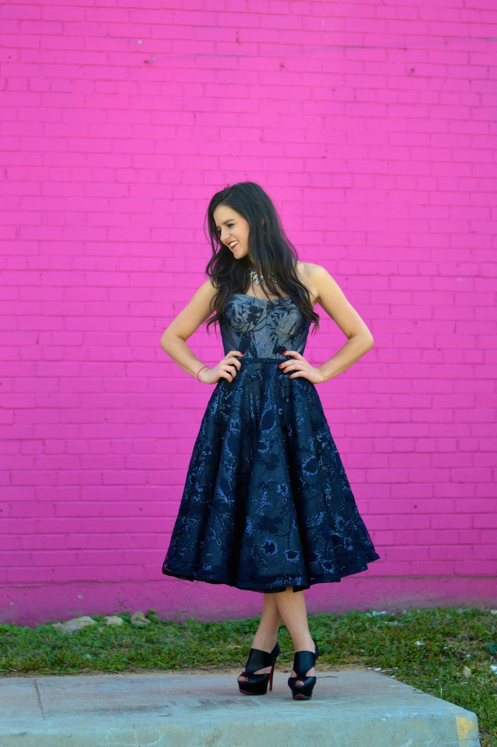 Lucy Dang Navy Dress
