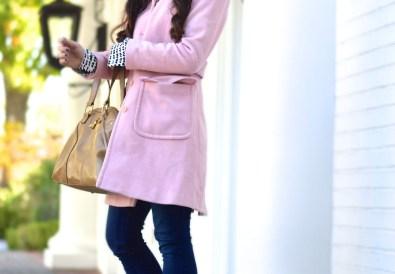 Fall pink coat