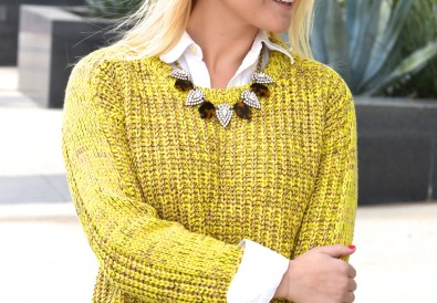 Sweater with Blouse Under