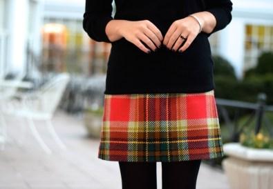 J Crew Plaid Mini Skirt