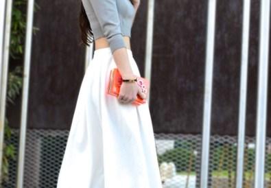 White-Midi-Skirt