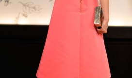 Kate Spade Fall 2015 Bow Back Pink Dress