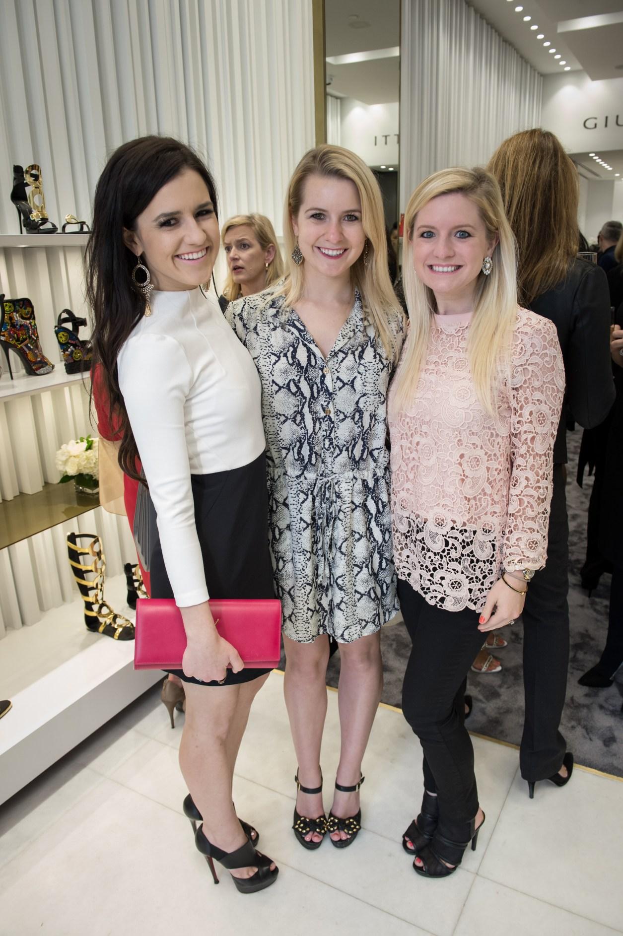 Ellen Flowers, Janie Flowers, Blair Butler, Vogue Giuseppe Event