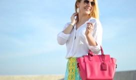 Hot pink summer bag