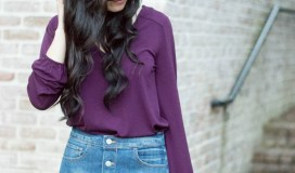 Express denim skirt and blouse