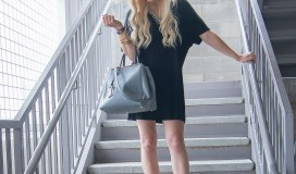 Missguided black tshirt dress-6
