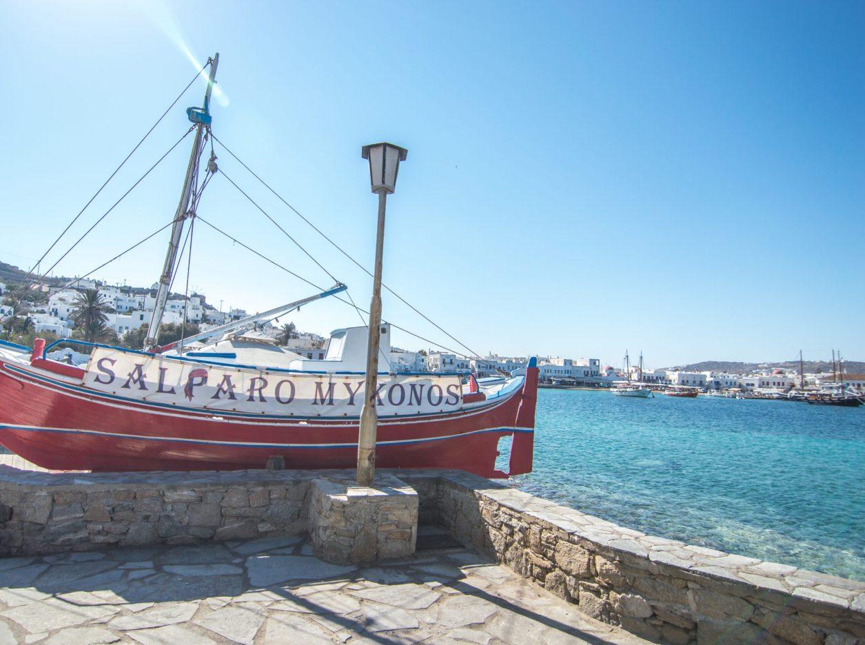 Mykonos Red Boat Chora