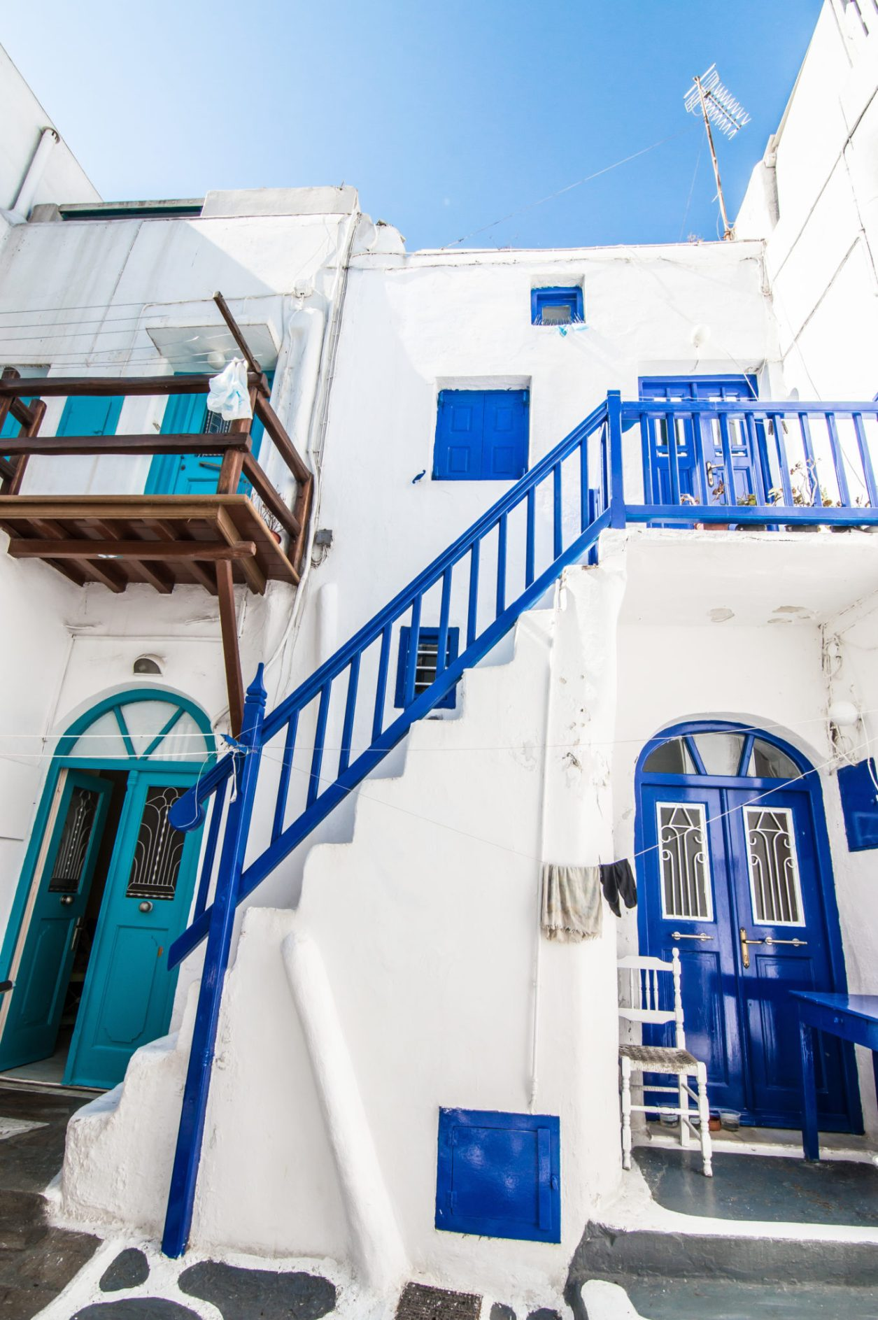 Mykonos Chora Blue and white streets