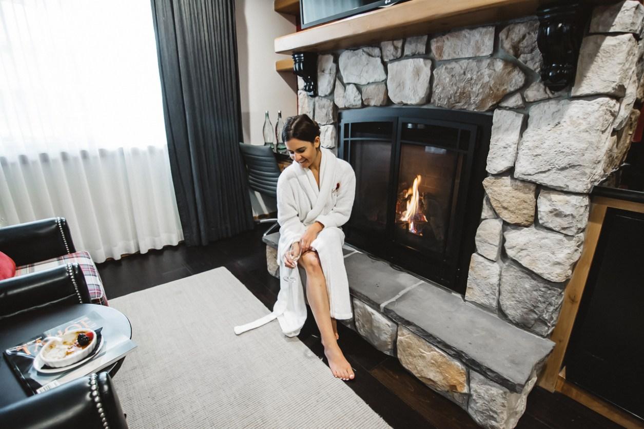 The Landing Resort Tahoe fireplace