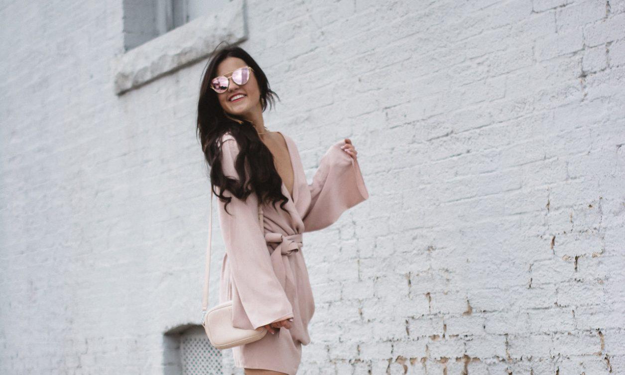 Blush Keepsake Wrap Dress (9 of 26)