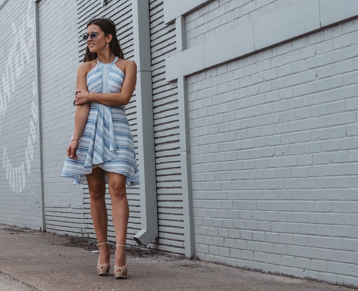 Amanda Uprichard Blue Striped Dress-16